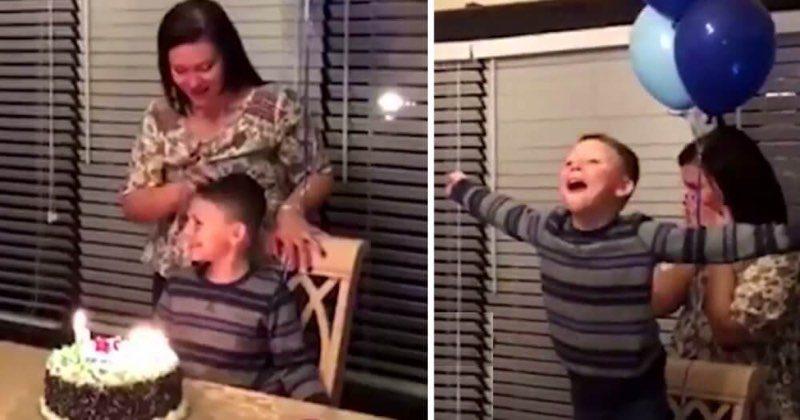 Мальчик загадал желание на своем дне рождении, и оно тут же исполнилось!