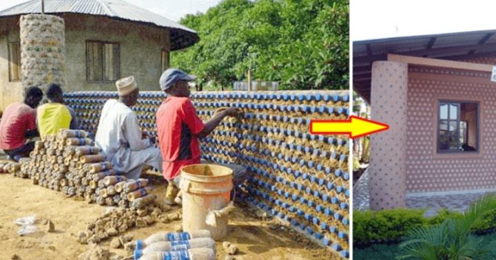 Дома из бутылок! В Нигерии нашли уникальный способ спасения планеты от загрязнения