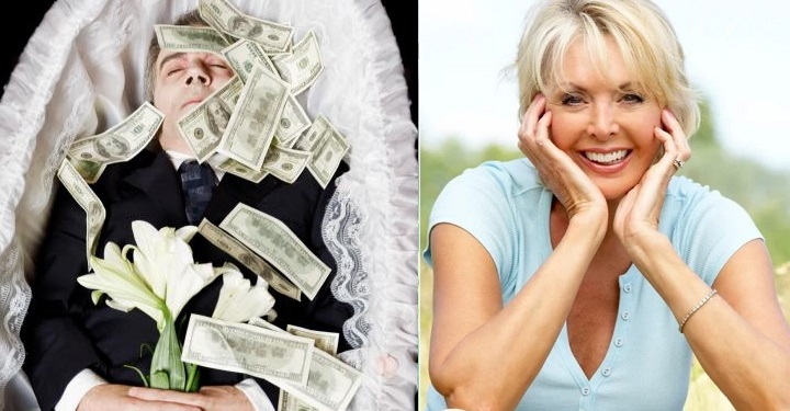 В мир иной он захотел отправиться со всеми своими деньгами. Жена выполнила его просьбу по-своему