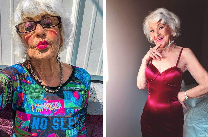 3,8 млн подписчиков: необычная 90-летняя бабушка, покорившая Инстаграм