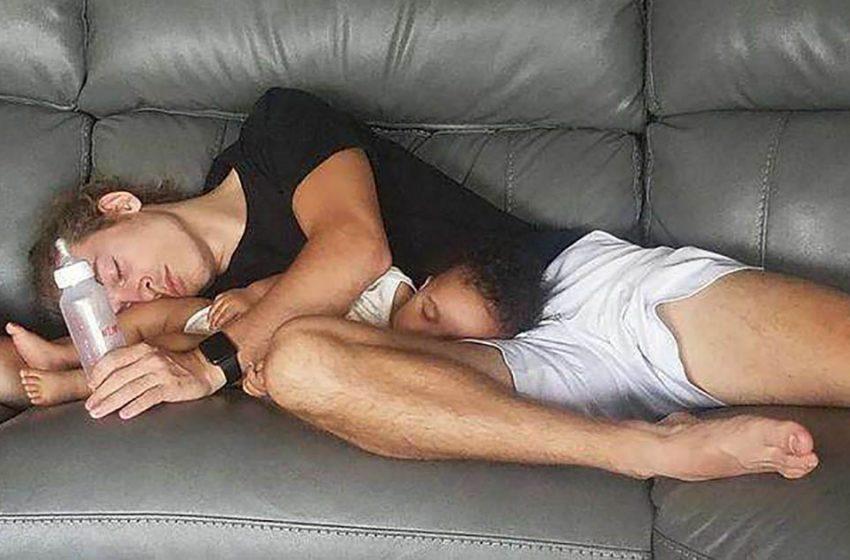 12 трогательных фото папочек, которые готовы на всё ради своих малышей
