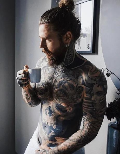 Кевин Крикман — самый красивый татуированный мужчина