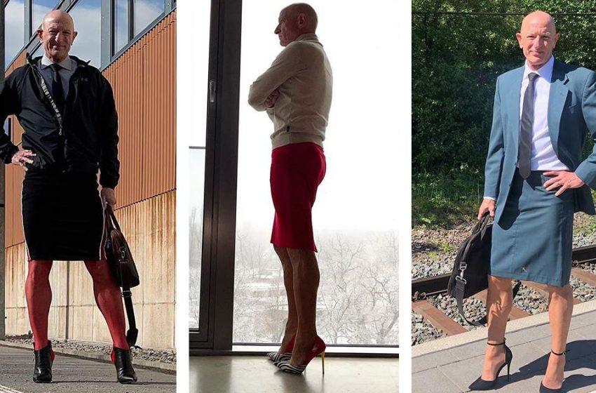 Юбка и каблуки: как дедушка из Германии заставил всех обсуждать его гардероб